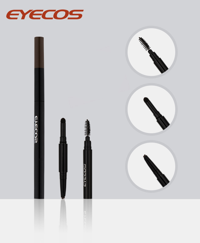 How to use three-in-one eyebrow pencil? Eyebrow pencil eyebrow brush three steps
